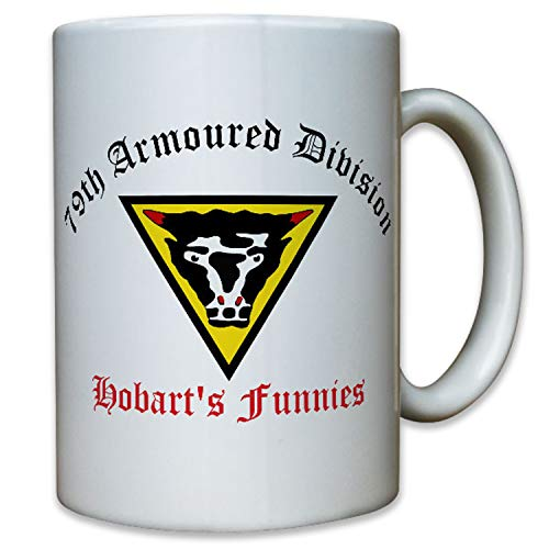 79th Armoured Division British Army Great Britain Grande-Bretagne General Percy hobart'S Funnies armoiries emblème armoiries–Tasse café # 10256T