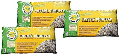 Secret Chanvre paillis de Chanvre 70 litres Lot de 3