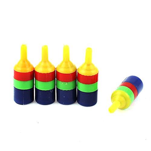 uxcell 5 Piece Plastic Aquarium Airstone Diffuser Air Tube, Multicolor, 4mm
