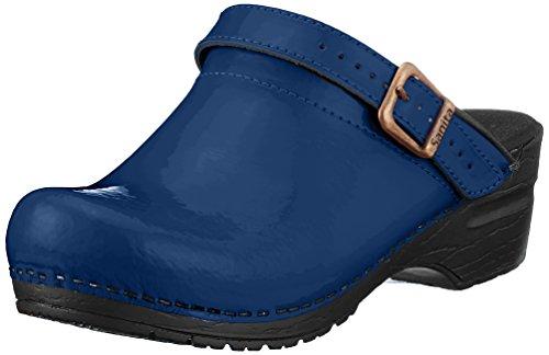 Sanita Damen Freya Open Clogs, Blau (Blue), 40 EU