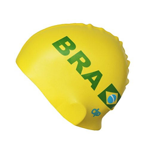 Diapolo - Collezione Nations Brasile - Cuffia da nuoto in silicone per nuoto/nuoto sincronizzato/pallanuoto/triathlon