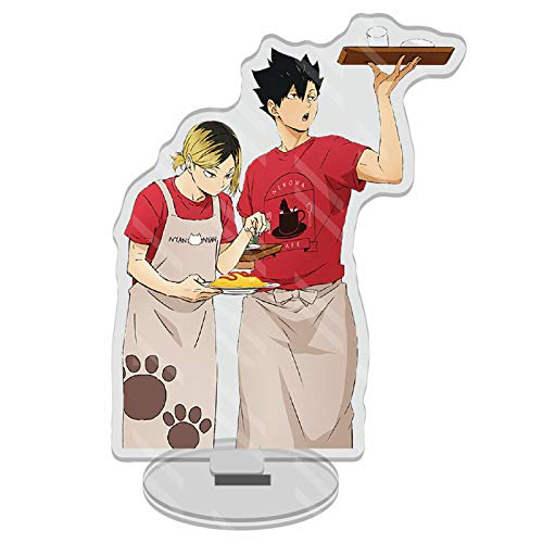 Sweet&rro17 Anime Haikyuu Dounjin Figure Acryl Aufsteller Display Stand Figur Zimmer Deko Desk Miniature(Kenma Kozume & Kuroo Tetsurou)