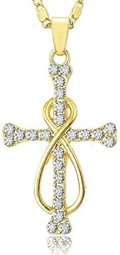 ZVBEP Collar Christian Jesus Titanium Scripture Cross Collar Acero Inoxidable Black Oración Gargantilla Cruz Colgantes Collar Colgante para Mujeres Hombres