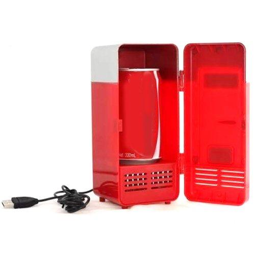 Generic Portable Red USB Mini Fridge with Dual Usage Heat Cool Fridge
