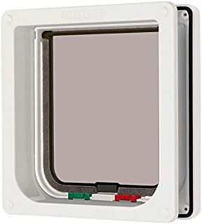 Ani Mate Cat Mate 4 Way Locking Cat Flap with Door Liner, White