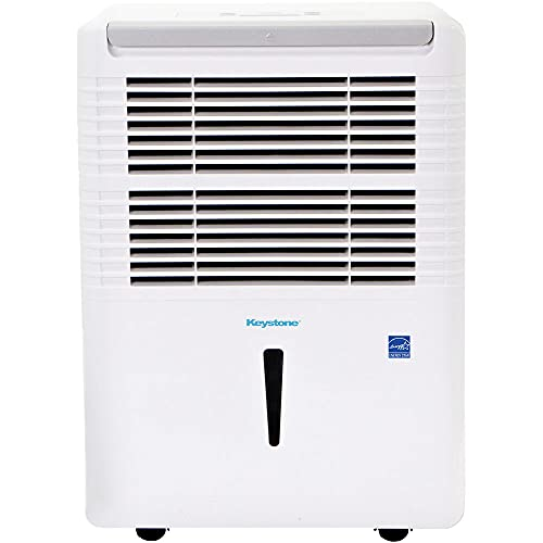 Keystone 50 Pint Dehumidifier with Electronic Controls, KSTAD504D, White