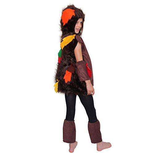 Krause & Sohn Disfraz infantil de erizo con follaje, talla 116, erizo, bosque, carnaval, carnaval