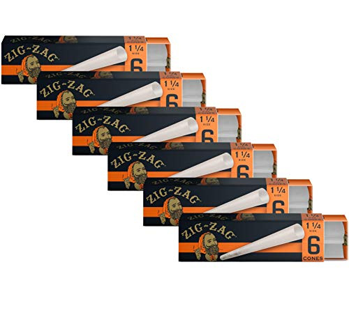 Zig-Zag Rolling Papers - Pre-Rolled Paper Cones - Ultra Thin 1 1/4...