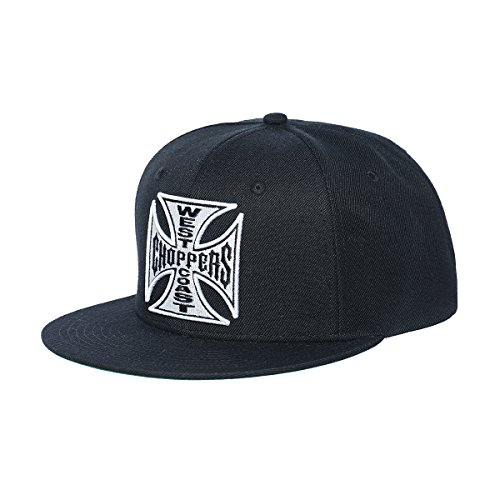 WEST COAST CHOPPERS Unisex Snapback Cap OG Cross Flatbill, Farbe:Black, Größe:one Size