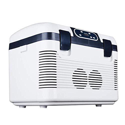 Adobe abs Auto Kühlschrank Tragbare Kompressor Thermoelektrische Kühlbox Gefrierbox Warmhaltefunktion 19l,12 Volt Und 220 V,Mini Kühlschrank Für Auto Boot,Camping,LKW,Steckdose