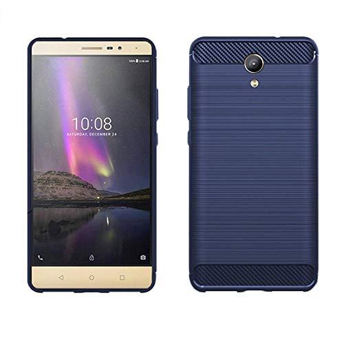 König Design Handy-Hülle kompatibel mit Lenovo Phab2 Silikon Hülle Hülle Sturzsichere Back-Cover Handyhülle - Carbon - Blau
