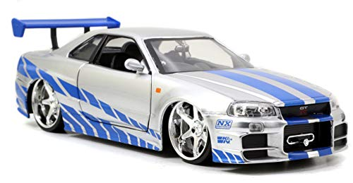Jazwares - 97158 - Metals Diecast - Fast and Furious, Brian O'Conner's Nissan Skyline GT-R, Maßstab 1:24