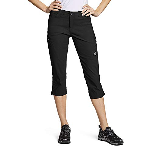 Eddie Bauer Women's Guide Pro Capris, Black Regular 16
