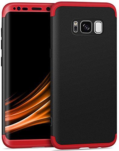 Imikoko Galaxy Note 8 ケース ギャラクシー Note8 360度フルカバー 携帯カバー 薄型 三段式 3パーツ式 おしゃれ ハードケース 耐衝撃