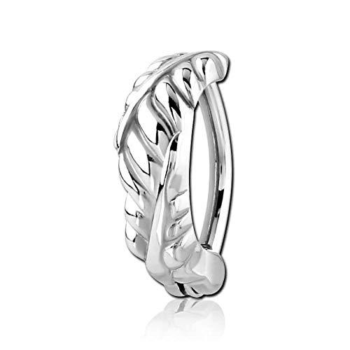 INOKI Ring Bauchnabel Floralys - Armreif/Stecker 1.6 mm, Long. Int. 11 MM