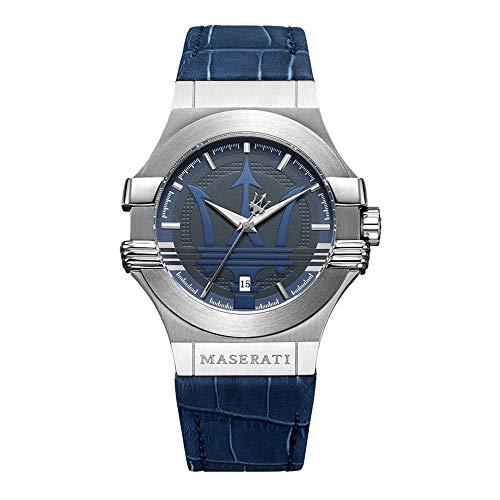 Reloj para Hombre, Colección Potenza, Movimiento de Cuarzo, Solo Tiempo con Fecha, en Acero y Cuero - R8851108015
