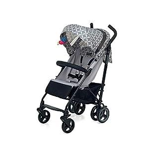 Foppapedretti Hurrà Passeggino Compatto per Bambini da 0 a 3 Anni, Oval Grey 8