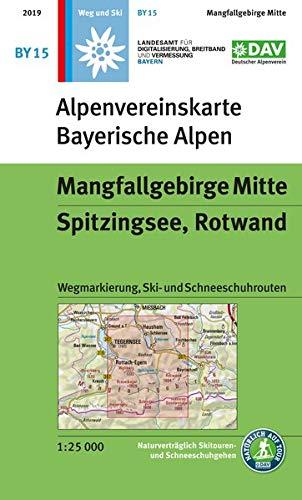 Mangfallgebirge Mitte, Spitzingsee, Rotwand: Wegmarkierung, Ski- und Schneeschuhrouten (Alpenvereinskarten)