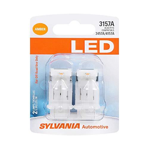 SYLVANIA 3157 Amber LED Bulb, (Contains 2 Bulbs)