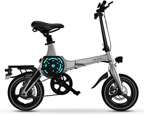 Bicicletas Eléctricas, Bicicletas eléctricas rápidas for adultos de 14 pulgadas de bicicletas de montaña portátil plegable eléctrico for adultos con 36V de iones de litio E-Bici 400W motor de gran alc