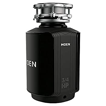 Moen GXS75C Host Series 3/4 HP Continuous Feed Garbage Disposal with Sound Reduction Power Cord Included