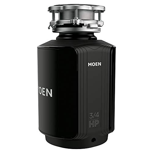 Moen GXS75C Host Series 3/4 HP Continuous Feed Garbage Disposal with Sound Reduction, Power Cord Included