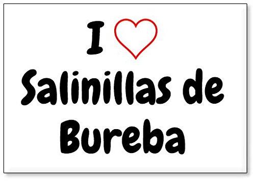 Mundus Souvenirs - Amo Salinillas de Bureba, Imán para Nevera (diseño 1)