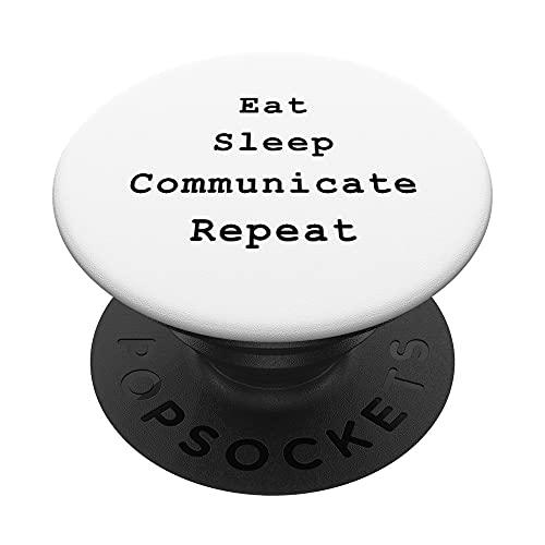 Communicate Scrum Agile Project Management Funny PM Coach PopSockets PopGrip: Agarre intercambiable para Teléfonos y Tabletas