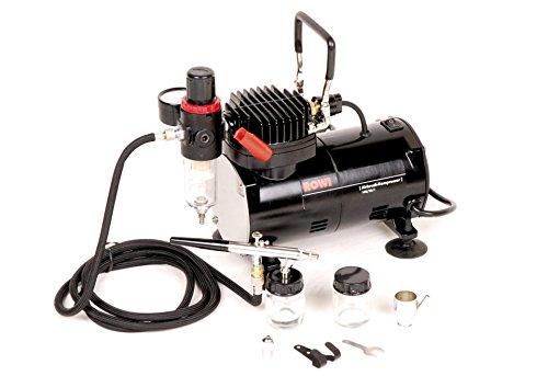 Rowi Airbrush Kompressor Set mit viel Zubehör 148/23/1