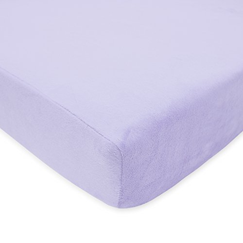 American Baby Company Heavenly Soft Chenille Fitted Crib Sheet for Standard Crib and Toddler Mattresses, Lavender, for Girls, Pack of 1