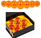 WeizhaonanCos Unisex Acrylic Resin Transparent Stars Balls Glass Ball Dragon Ball Cosplay Props Kids Play Toy Gift Set of 7pcs 43mm/1.7 in in Diameter