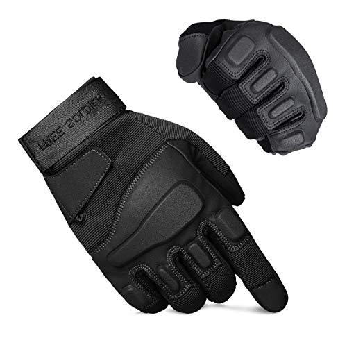 FREE SOLDIER Outdoor Handschuhe Militärische Taktische Armee Trainingshandschuhe für Radfahren Wandern Klettern Motorrad MTB-Handschuh Winddichte Handschuhe(Schwarz,s)