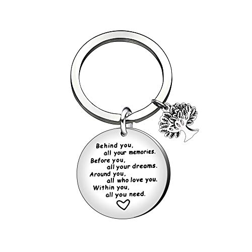 Inspiration Gift,Tree of Life Keychain Keyring Key Chain Ring for Son Friends Dad Birthday Christmas Gift