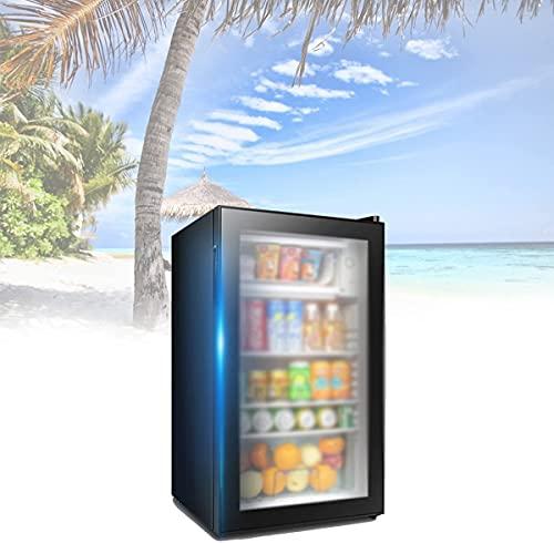 NFRMJMR Freestanding Wine Cooler, Mini Dormitorios Food Droditas Frigorífico con función de Micro-congelación, Ajuste de Temperatura Inteligente de Cinco velocidades, oficinas, dormitori