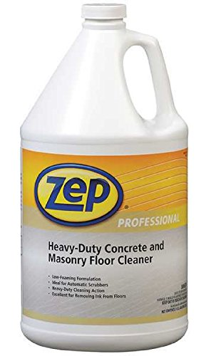 Zep Professional R03324 Heavy-Duty Concrete and Masonry Floor Cleaner, Butyl Fragrance, Clear/Red (Case of 4 Gallons)