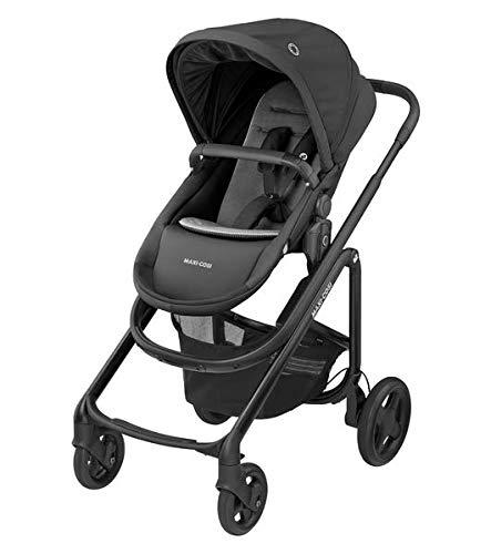 Maxi-Cosi Lila CP Komfort-Kinderwagen, faltbar, 6 Monate bis 4 Jahre, 0-22 kg, Essential Black (schwarz)