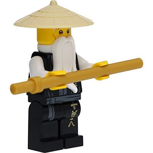 LEGO Ninjago - Figura de Sensei Wu en túnica negra con armas (Legacy)