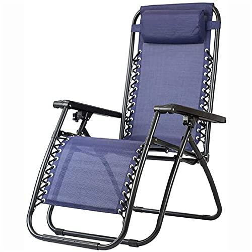 CHLDDHC Liegestuhl, Outdoor-Freizeit-Strandkorb, Vierkantrohr-Klapprohr-Loungesessel, Mittagspause, Rückenlehne, Bürostuhl