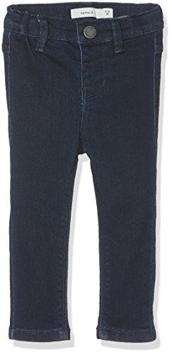 Name It Nittera Skinny DNM Pant Mini Noos Pantalon, Gris (Dark Blue Denim), 104 Bébé Fille
