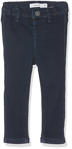 Name It Nittera Skinny DNM Pant Mini Noos Pantalon, Gris (Dark Blue Denim), 104 Bébé Fille