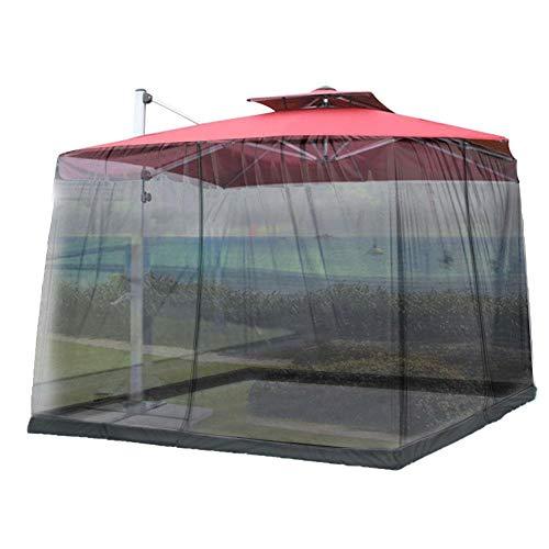 Chen0-super Canopy Net Carpa Fácil instalación, Repelente al Agua Screen House Camping Canopy Shade Carpa Mosquitera para Patios al Aire Libre, Adecuado para sombrillas Dentro de 335CM x 230CM