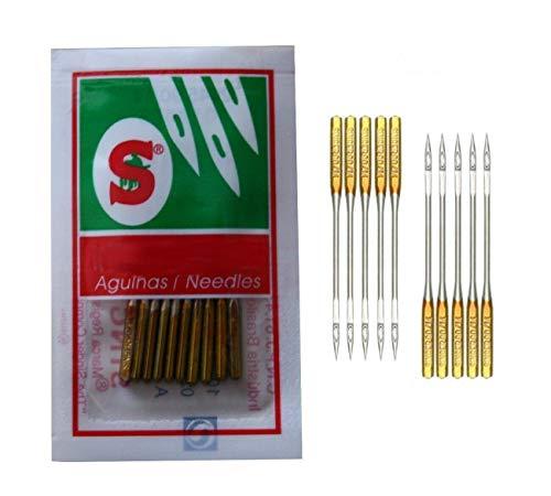 Singer Nähmaschinen Nadeln System 2045 Stärke 90/14 für Strick-und Jersey Stoffe