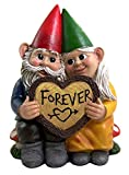 Forever Gnome Old Couple Small Indoor Outdoor Garden Figur, 15,2 cm