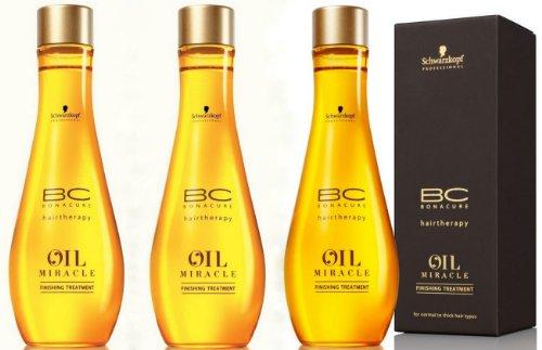 Schwarzkopf BC Bonacure Hairtherapy Oil Miracle Finishing Treatment SET 3 x 100ml
