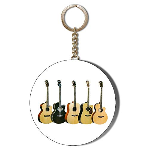 Gift Insanity GUITARS TWENTY IN A ROUND WHITE 45mm CHAIN KEYRING