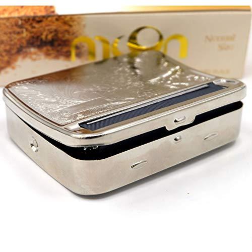 Maquina de cigarrillos Fabricante de cigarrillos 80 mm manual automático de metal caja de cigarrillos para liar a mano caja de tabaco extractor de cigarrillos manual juego de fumar doméstico portátil
