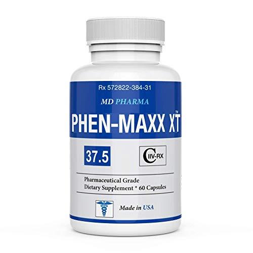 PHEN-MAXX XT 37.5 ® - Maximum Strength - Weight Loss Diet Pills - Appetite Suppressant - Boost Energy & Mood