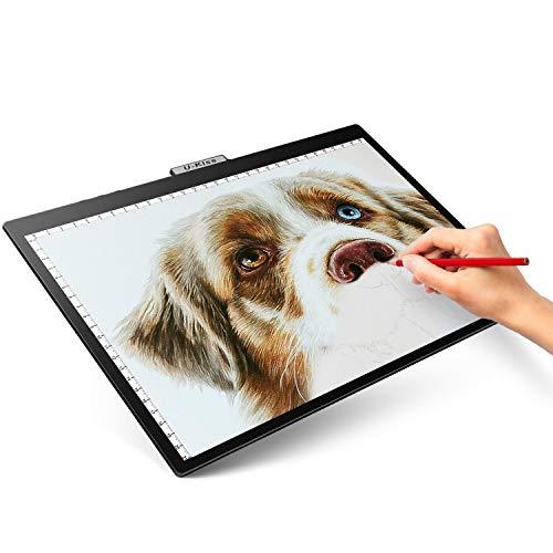 U-Kiss A4 Ultradelgado Portátil Caja de luz LED, Interfaz USB, Brillo regulable Artcraft Tracing Mesa de luz para artistas Dibujar Bocetos Animación Transparencia Rayos X Ver