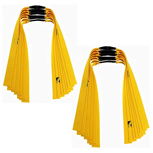 Kiwochy 14 PCS Powerful Slingshot Flat Rubber Band Replacement Slingshot Flat Rubber Band Slingshot Replacement Bands Hunting Catapult Elastic Shooting Game Long 19.7'