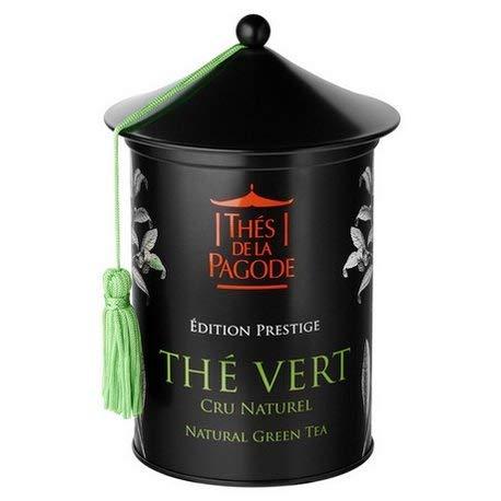 Natürlicher Grüner Tee Roher Tee von La Pagode Teas | Prestige Ausgabe - Schachtel mit 100 Gramm | Antioxidantien und Schlankheitsmittel